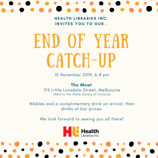 Health Libraries Inc. End of Year Event 2019
